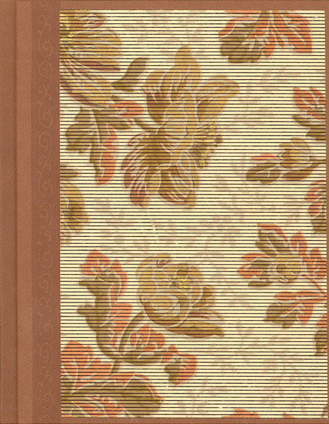 "Pinstriped Floral Antique Wallpaper Journal - 7"" x 9"""