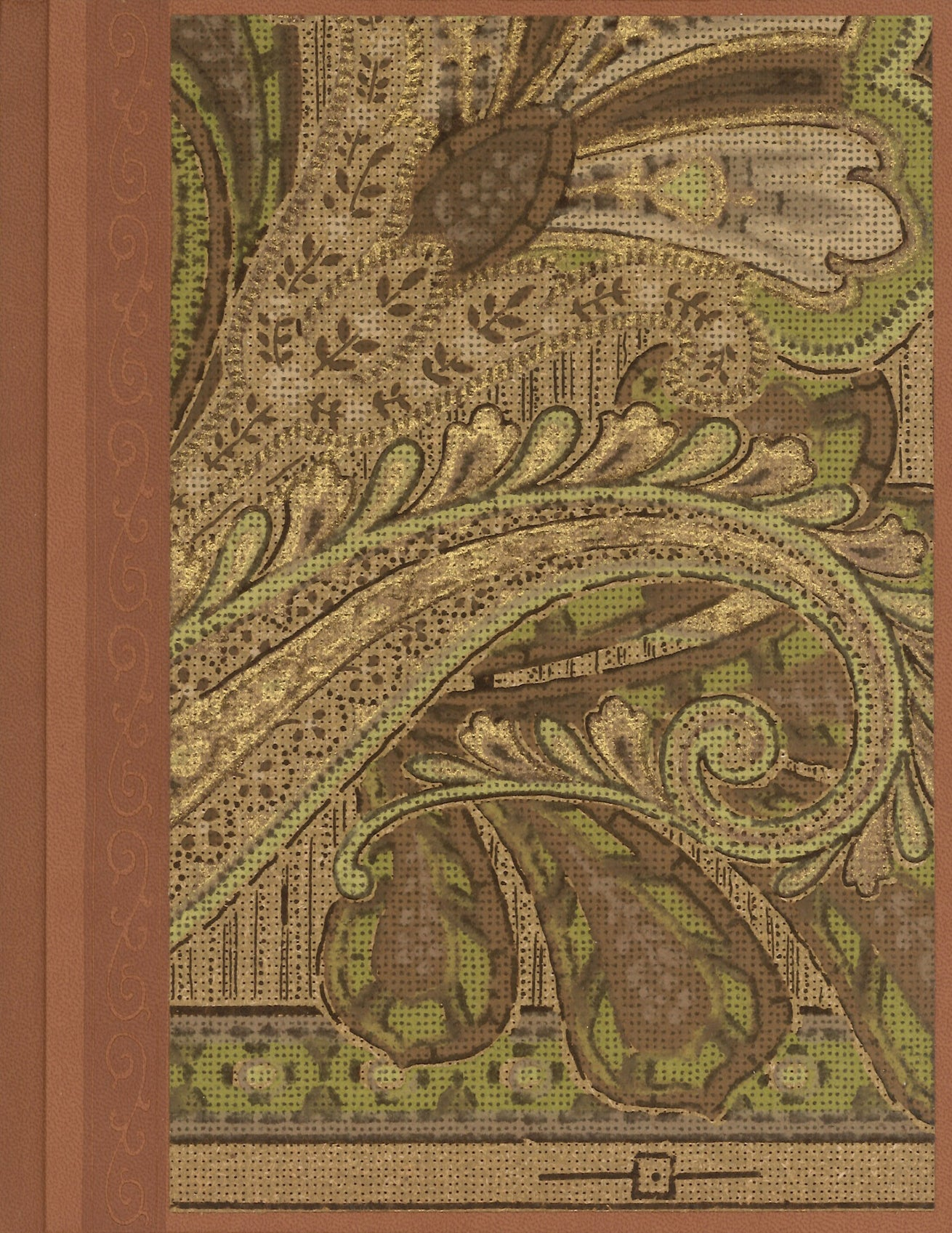 "Paisley Antique Wallpaper Journal - 7"" x 9"""