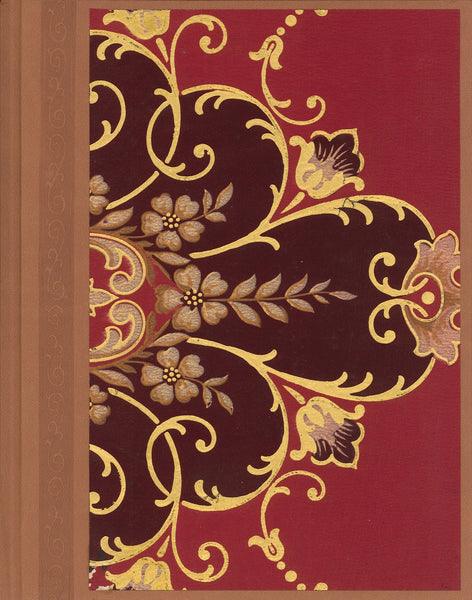"Red Floral Antique Wallpaper Journal - 8.5"" x 11"""