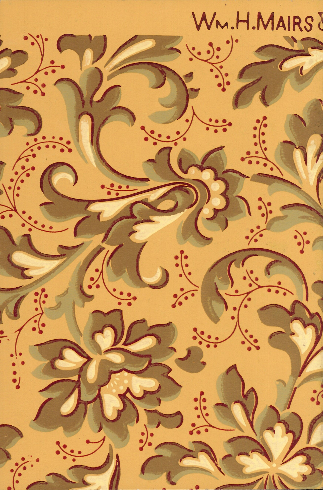 Delightful Floral Antique Wallpaper Accent Panel