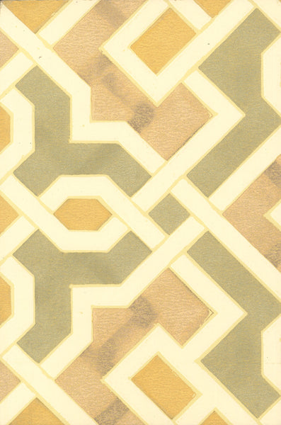 Geometric Moorish Antique Wallpaper Accent Panel
