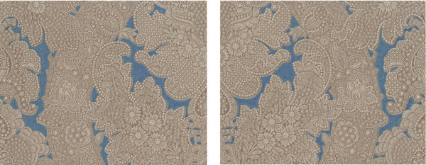 Embossed Damask Wallpaper Accent Panel - Diptych
