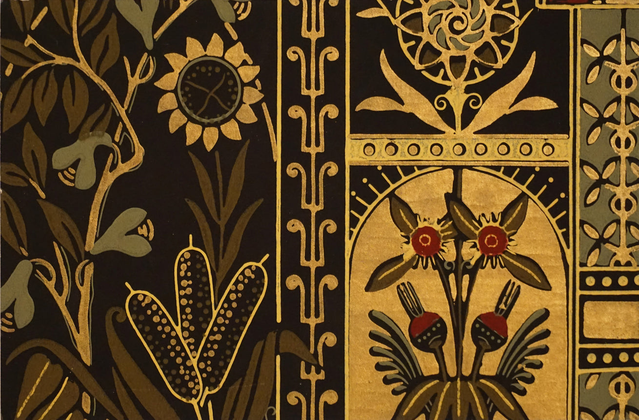Astonishing Aesthetic Antique Wallpaper Accent Panel-Flower