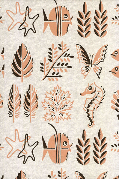 Fish Life Vintage Wallpaper Accent Panel