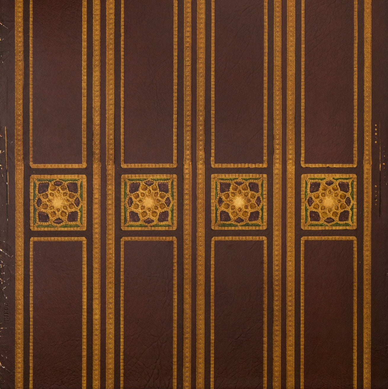 "5"" Leather Medallion Border - Antique Wallpaper Rolls"