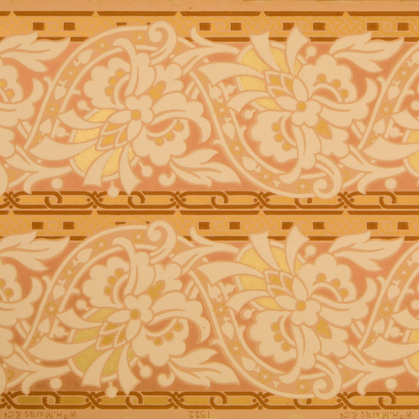 "9-1/4"" Stylized Undulating Border - Antique Wallpaper Remnant"