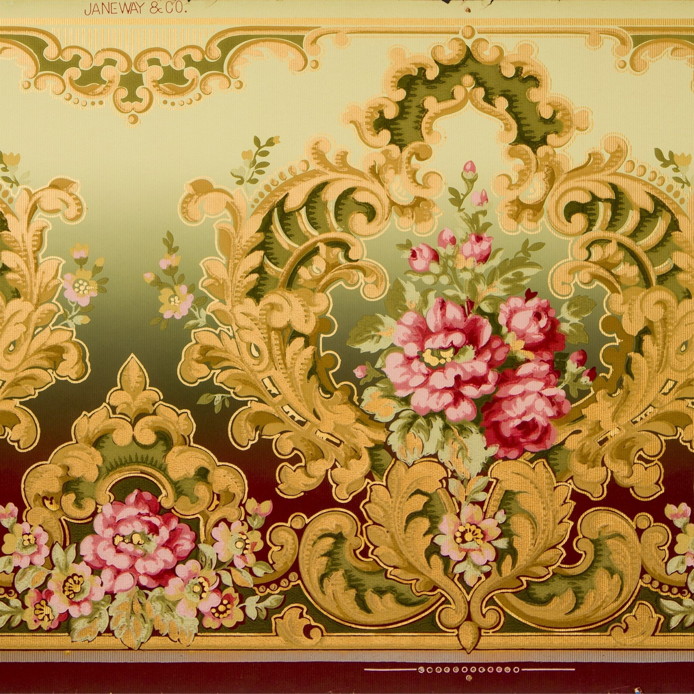Rococo Frieze Antique Wallpaper Remnant Bolling Amp Company