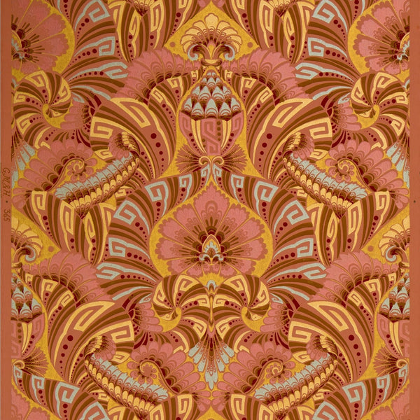 Simply Defies Description - Antique Wallpaper Remnant