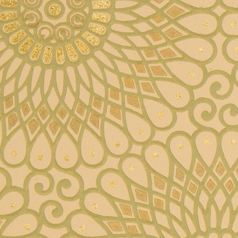 Spirographic Filigree Circles With Flitter Antique
