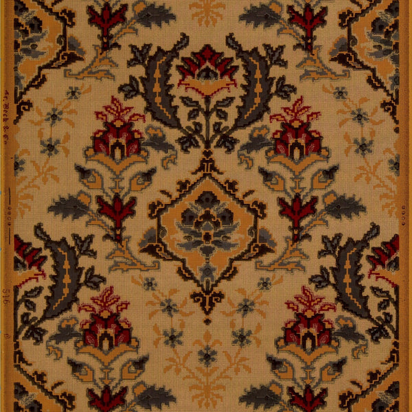 Kilim-Like Tapestry - Antique Wallpaper Remnant