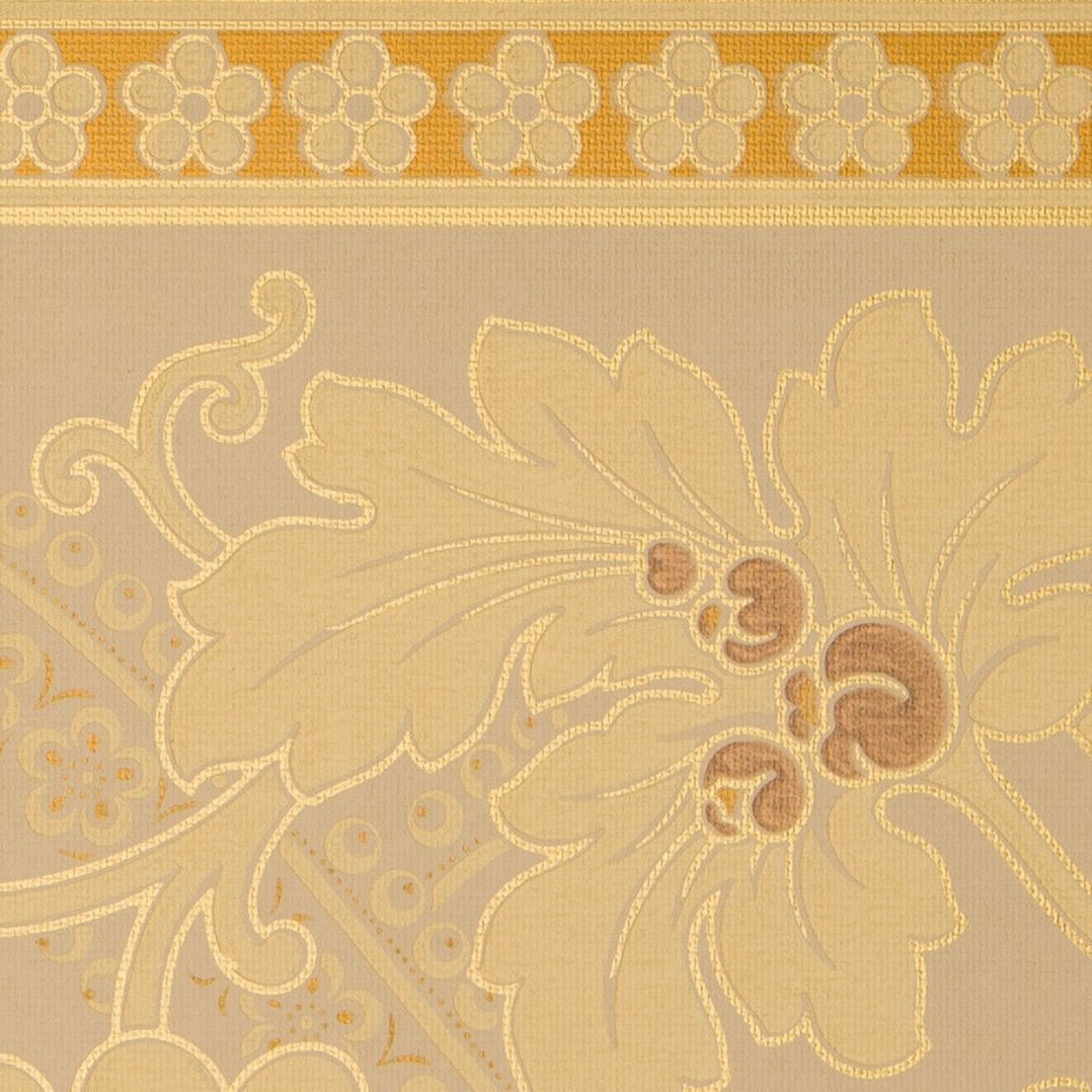 Large Floral/Foliate Border - Antique Wallpaper Remnant