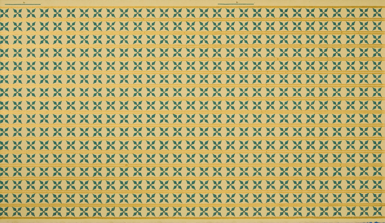 Fine Gridded Pattern of Small Crosses - Antique Wallpaper Remnant