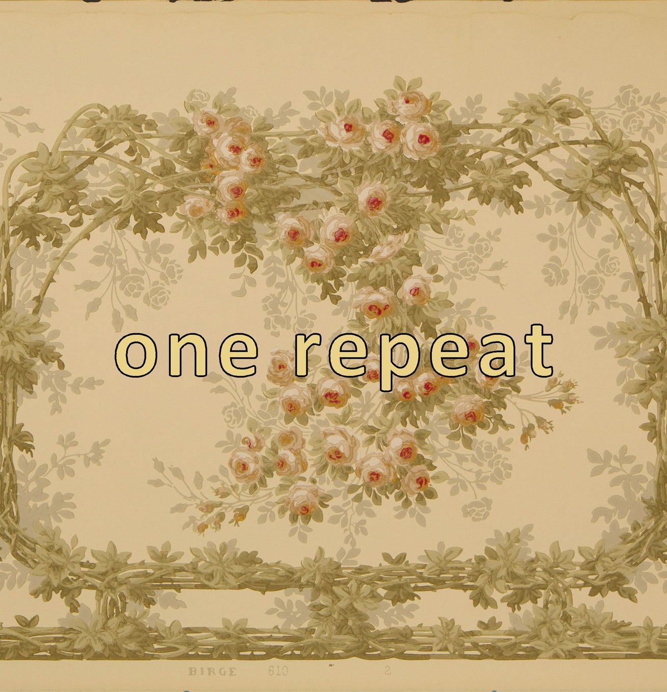 """The Briar Rose"" Intertwining Vine Frieze - Antique Wallpaper Remnant"