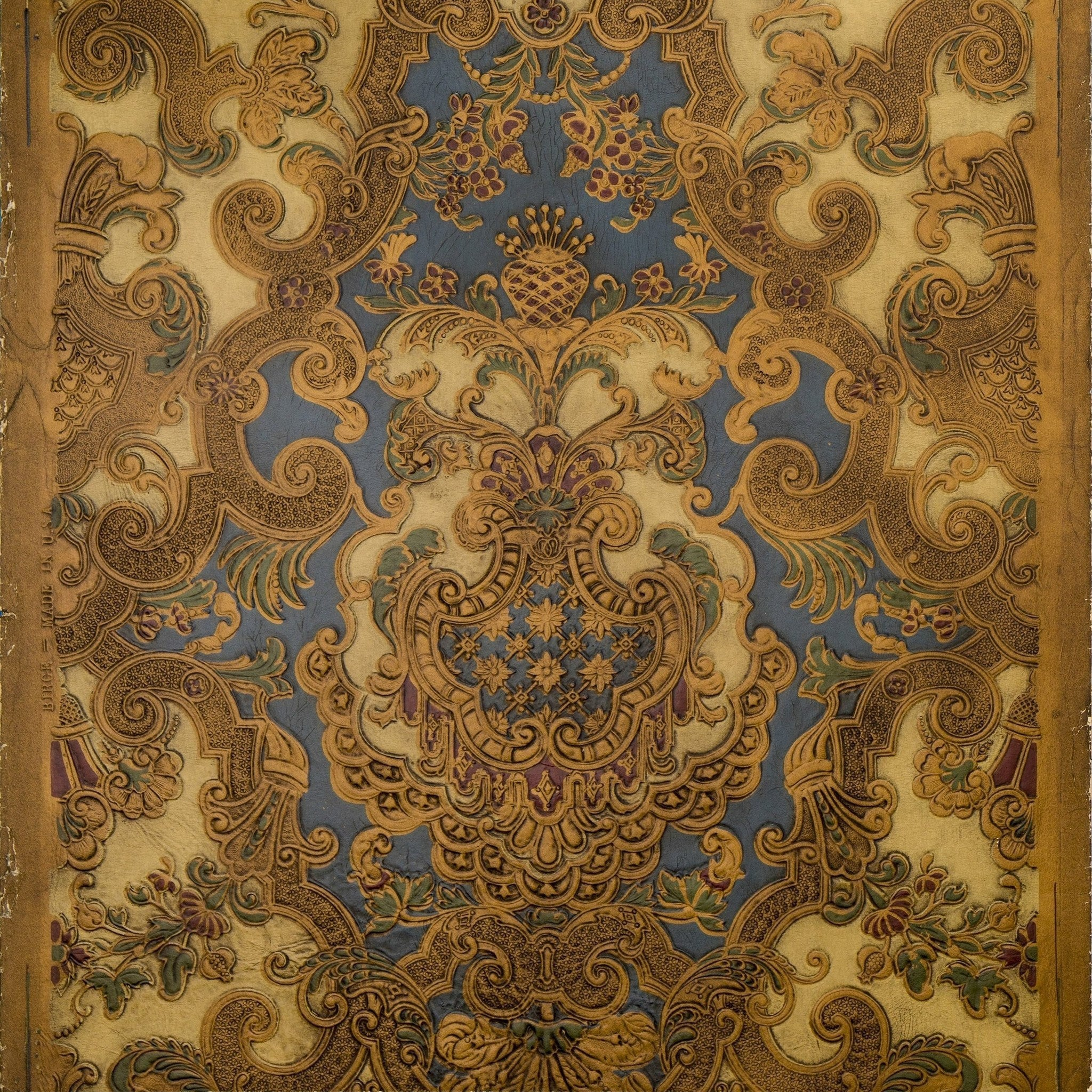 Intricate Rococo Tooled Leather