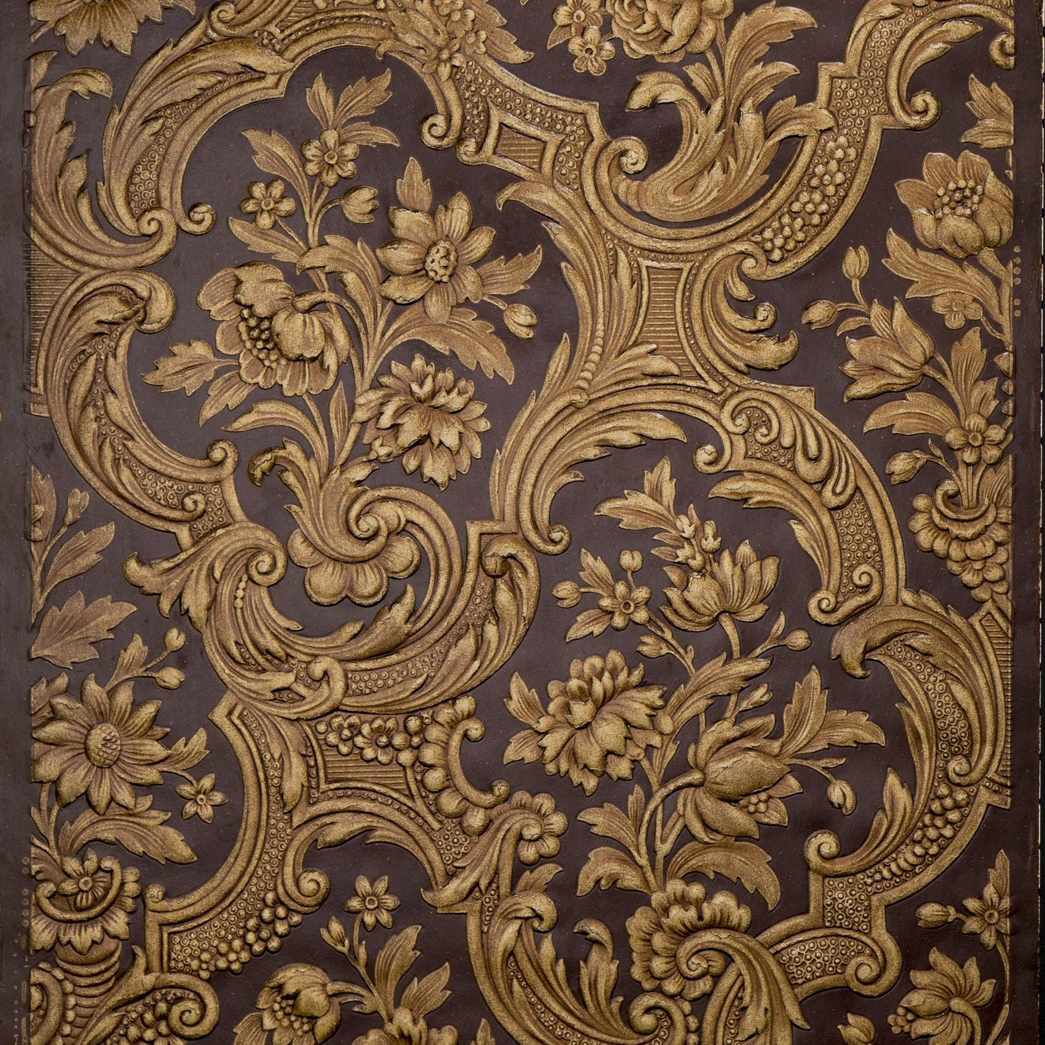 Deeply Embossed Rococo Floral