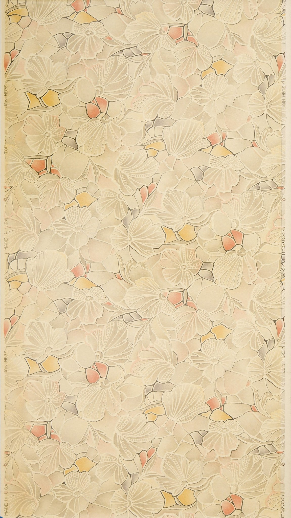 Coral Onyx Varnished Floral Sanitary Paper