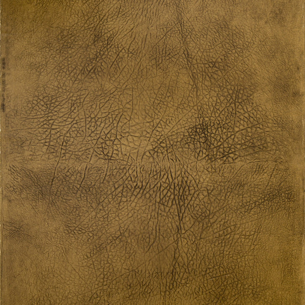 Embossed Leather Hide Paper - Antique Wallpaper Remnant