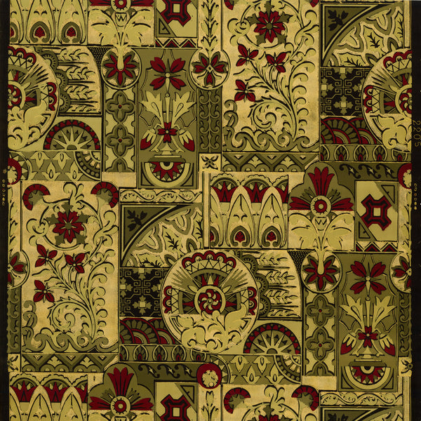 Regal Aesthetic - Antique Wallpaper Remnant