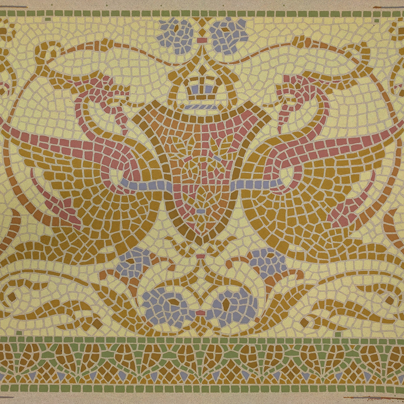 Mosaic Frieze with Griffins