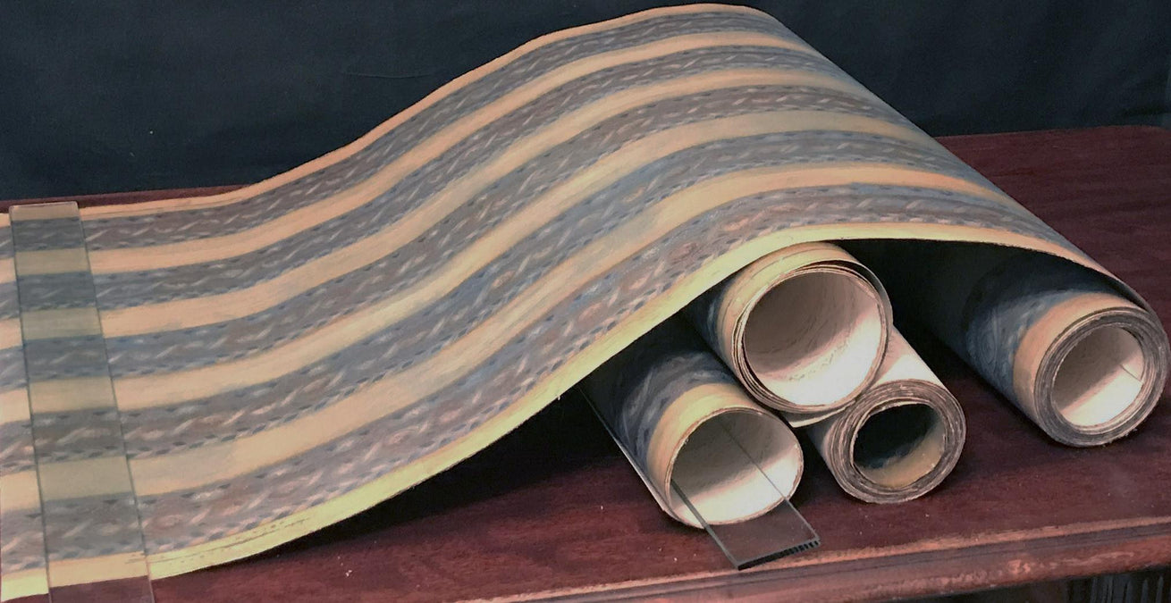 "2-5/6"" Embossed Leather Border - Antique Wallpaper Rolls"