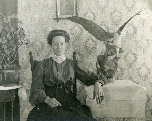 Lady with Stuffed Bird