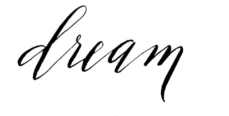 Modern Pointed Pen Calligraphy