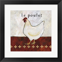 framed chicken print french country kitchen