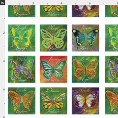 butterflies fabric Spoonflower Caitlin Dundon