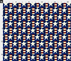 stars and stripes americana patriotic flag fabric Spoonflower Caitlin Dundon