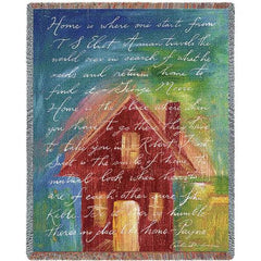 home tapestry cotton throw blanket house red housewarming Pure Country Weavers