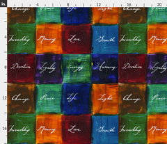 daily meditations inspiration quilt fabric Spoonflower Caitlin Dundon