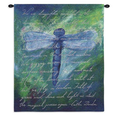 Blue Dragonfly Wall Tapestry
