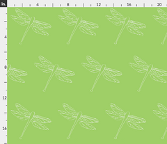 green dragonfly fabric Spoonflower Caitlin Dundon