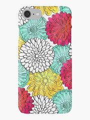 Caitlin Dundon coloring book floral iphone cover