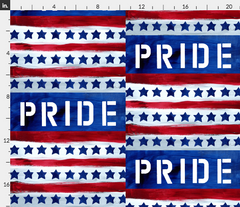 pride flag patriotic fabric stars and stripes