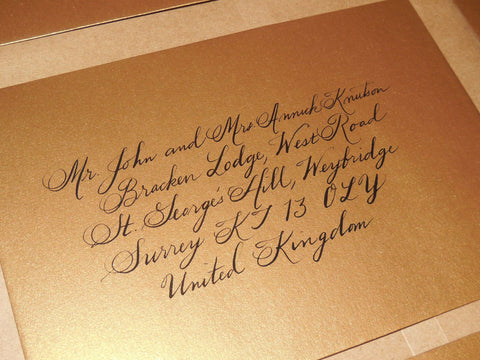 wedding calligraphy calligrapher envelope addressing
