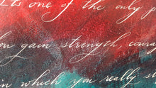 Courage to Live It, 22 x 28 Calligraphy Painting on Paper SALE