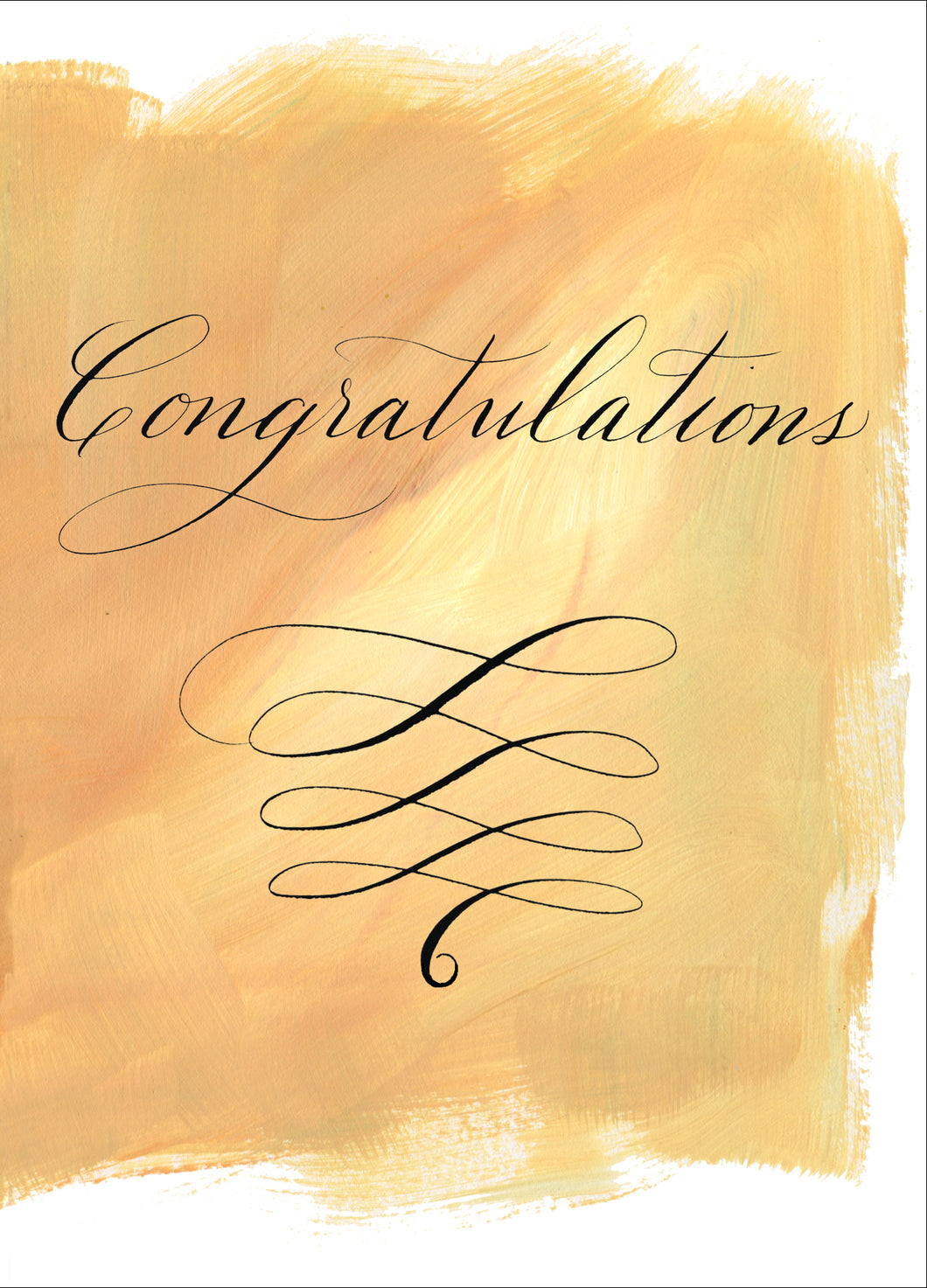 Greeting Card - Painted Calligraphy - Congratulations (single $5 and boxed $25)