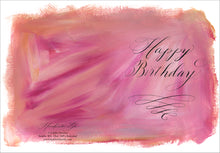 Greeting Card - Painted Calligraphy - Happy Birthday (single $5 and boxed $25)