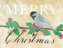Greeting Card - Merry Christmas Chickadee (single $5 and boxed $25)