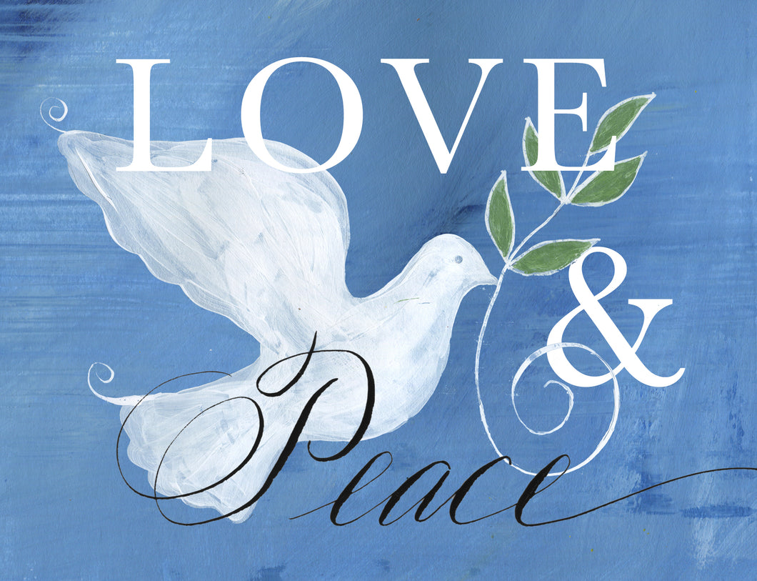 Greeting Card - Love & Peace Dove (single $5 and boxed $25)