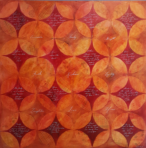 American Quilt II Collage Painting SALE