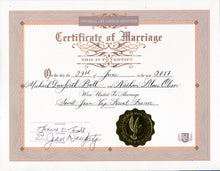 Certificate of Marriage Calligraphy