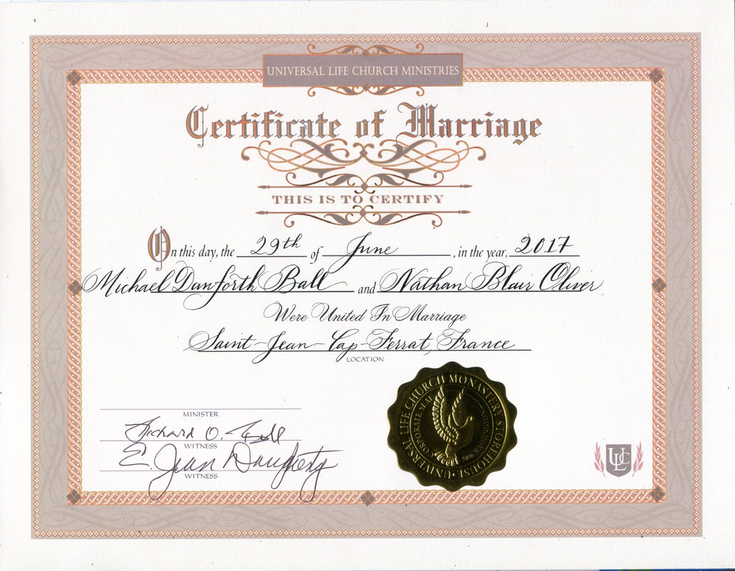 How To Request A Copy Of Your Marriage Certificate Online: Marriage Certificate Calligraphy