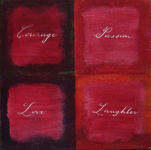 Daily Meditations: Courage Passion Love Laughter 8 x 8 SALE