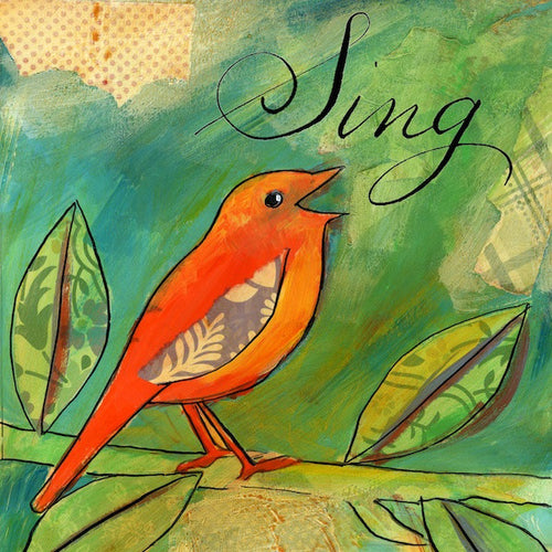 Little Bird Says III - Sing Bird Print