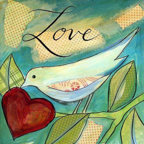 Little Bird Says II - Love Bird Print