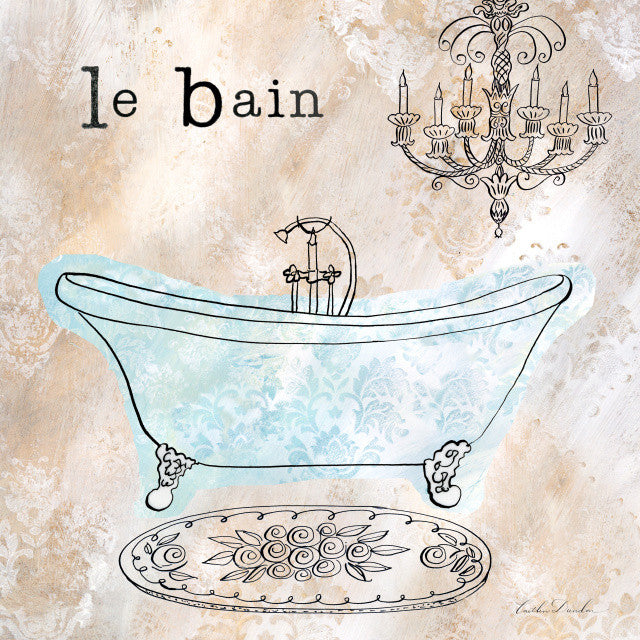French Bath Le Bain Art Print