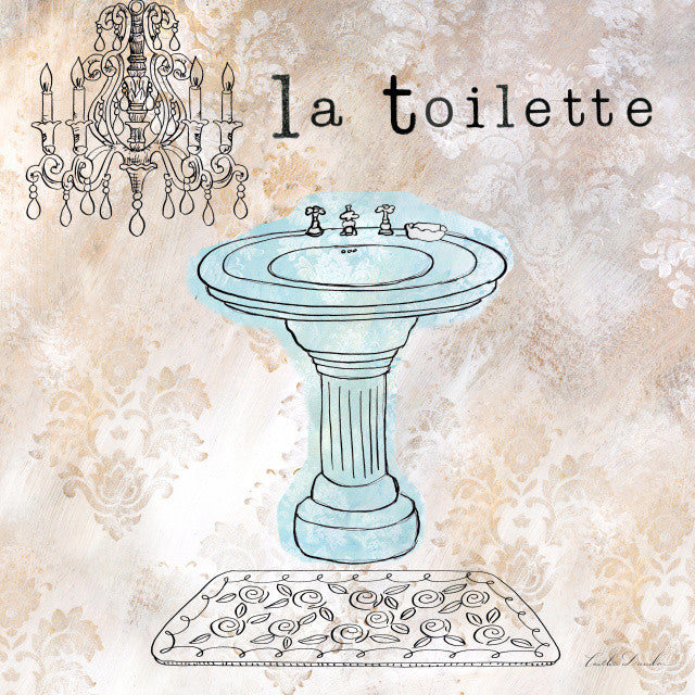 French Bath La Toilette Art Print