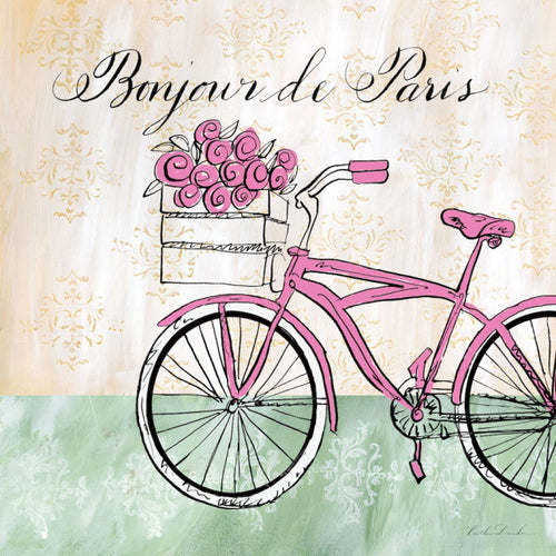 French Bike with Flowers Print - Bonjour de Paris
